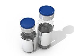 带盖抗生素透明圆形小玻璃瓶