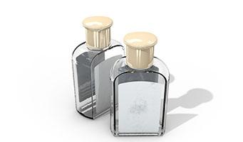 矩形化妆品透明小玻璃瓶